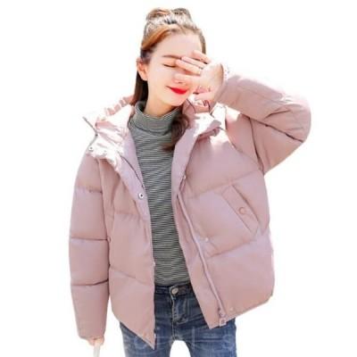 2021新作中綿コート ふっくら レディース 女性 女の子 フード付き ボリューム あったか 防寒 おしゃれ