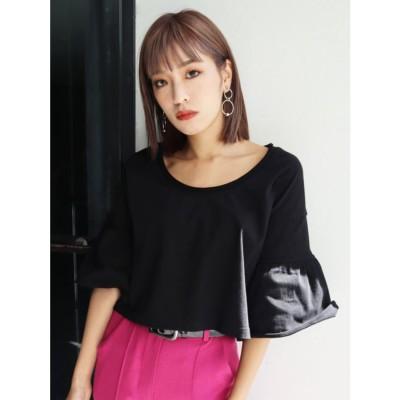 EMODA ランダムステッチTシャツ(ブラック)