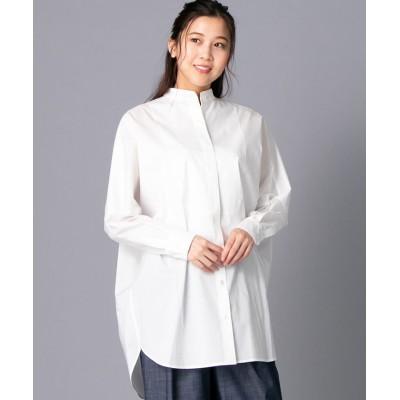 【レリアン】 オーバーサイズコットンシャツ レディース オフホワイト 9 Leilian