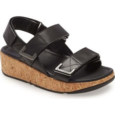 フィットフロップ FITFLOP レディース サンダル・ミュール ウェッジソール シューズ・靴 Remi Platform Wedge Sandal All Black Leather