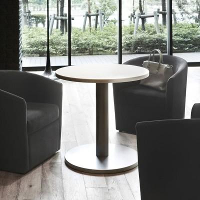 テーブル人口大理石天板円形テーブル直径75cm業務用店舗用家具 tp63w750-ft42msl