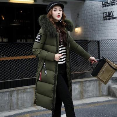 ロングコート ジャケット 保温性 レディース アウター フード付き 冬服 ロング丈 無地 きれいめ