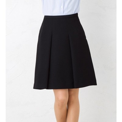 しなやかなドレープで女性の優しさを演出!ふんわりセミフレアスカート ひざ丈 きれいめ