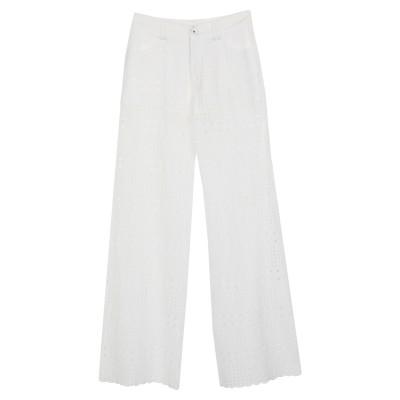 プレイン・スッド PLEIN SUD パンツ ホワイト 40 コットン 100% パンツ