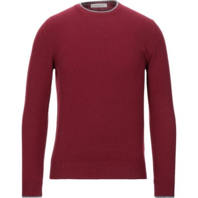 ラ フィレリア LA FILERIA メンズ ニット・セーター トップス sweater Maroon