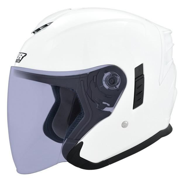 M2R FR-2 安全帽 FR2 素色 珍珠白 內襯可拆 內藏墨鏡 半罩《比帽王》