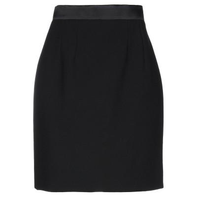 ドルチェ & ガッバーナ DOLCE & GABBANA ひざ丈スカート ブラック 38 バージンウール 89% / シルク 10% / ポリウレタ