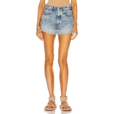 マウジー Moussy Vintage レディース ショートパンツ ボトムス・パンツ Upland Shorts Blue