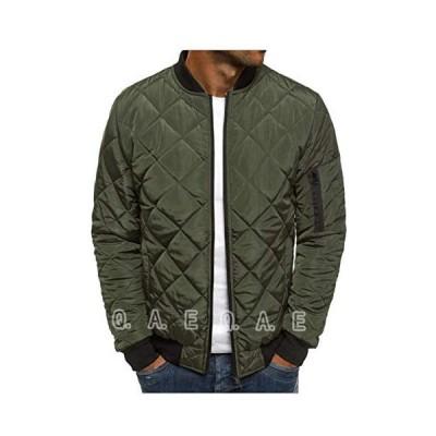 メンズ キルティング ジャケット MAー1 中綿ダウン ジャンパー ブルゾン コート 軽量 防寒 アウター アウトドア キャンプ ライダース