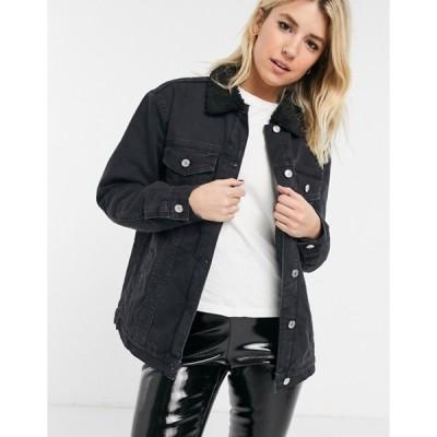 ボロンガロトレバー レディース ジャケット・ブルゾン アウター Bolongaro Trevor Razzy Denim Jacket in Washed Black