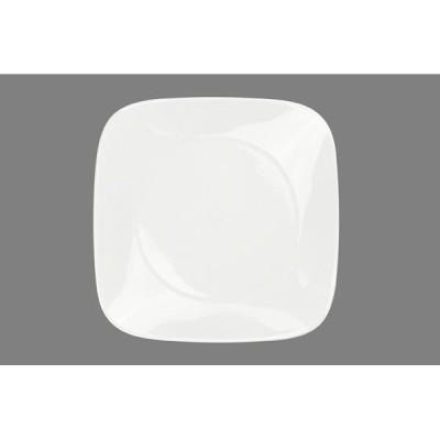 コレール ウインターフロスト ホワイト スクエア皿 大 J2213-N