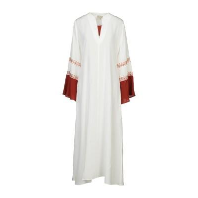 ZEUS + DIONE ロングワンピース&ドレス アイボリー 36 シルク 100% ロングワンピース&ドレス