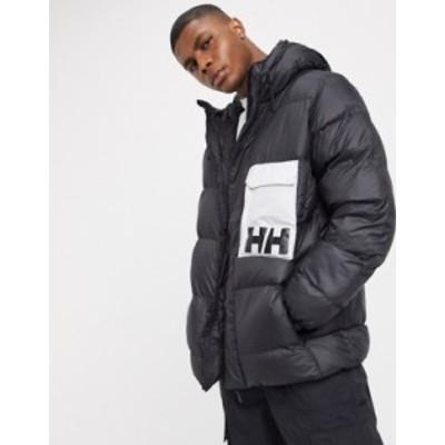 ヘリーハンセン メンズ ジャケット・ブルゾン アウター Helly Hansen P&C puffer jacket in black 990 black