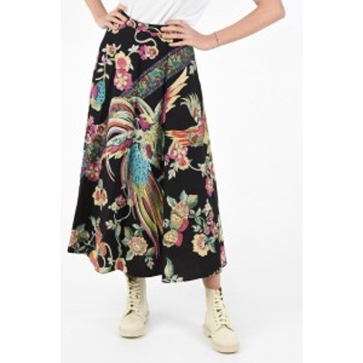 RED VALENTINO/レッド ヴァレンティノ Black レディース Cotton Floral Print Flared Skirt dk