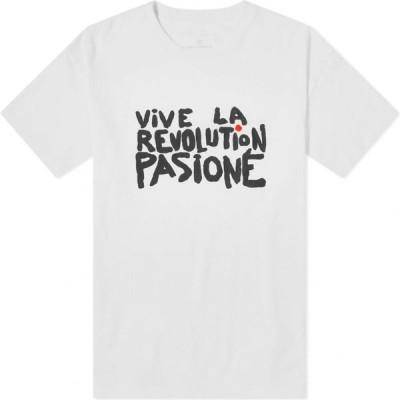 ユニフォームエクスペリメント Uniform Experiment メンズ Tシャツ トップス Vive La Revolution Pasione Illustration Tee White