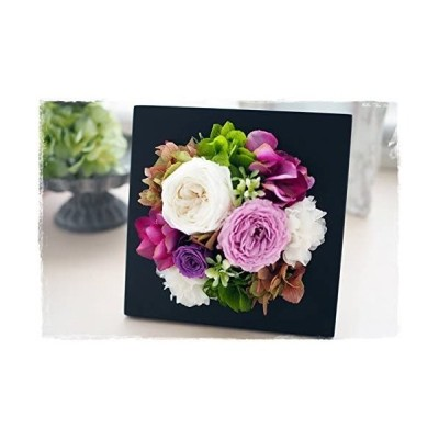 Eclaire Flower Design プリザーブドフラワー フレームブラック(ソフィー)