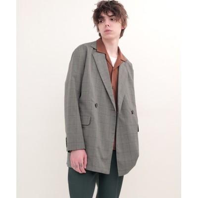 EMMA CLOTHES / TRストレッチスーツ地ダブルテーラードジャケット/オーバーサイズジャコット MEN ジャケット/アウター > テーラードジャケット