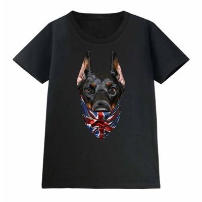 【ドーベルマン ドッグ 犬 いぬ イギリス】レディース 半袖 Tシャツ by Fox Republic