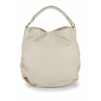 リーベスキンドベルリン レディース ショルダー バッグ Debossed Logo Leather Hobo Bag