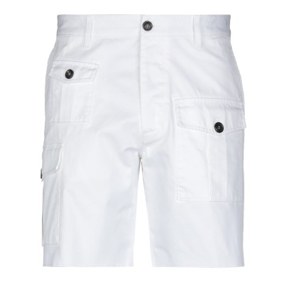 ディースクエアード DSQUARED2 ショートパンツ ホワイト 48 コットン 100% ショートパンツ