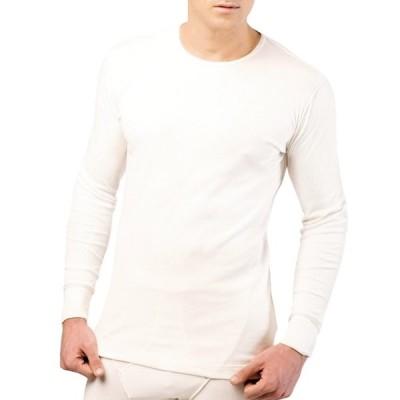 100%オーガニックコットン コトニーク メンズ 長袖Tシャツ