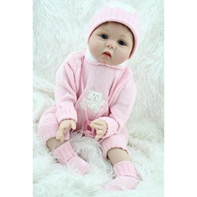 幼児用おもちゃ Nursery Baby Dolls So Truly Real Lifelike Reborn Girl in Blue Eyes Collectible Kids Toy,22-Inch