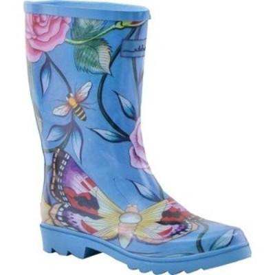 アヌシュカ Anuschka レディース レインシューズ・長靴 シューズ・靴 Mid-Calf Rain Boot Roses DAmour Printed Rubber