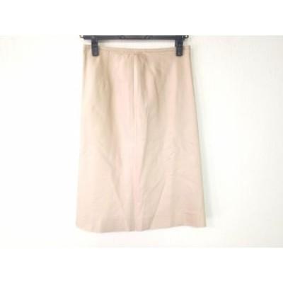 オールドイングランド OLD ENGLAND スカート サイズ36 S レディース ベージュ シルク【中古】20200331