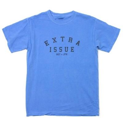 EXTRAISSUE  OG LOGO Tシャツ 青紫