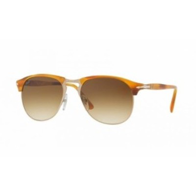Persol ペルソール ファッション サングラス Persol Brown Gradient Aviator Sunglasses PO8649S 960/51 56MM Striped brown
