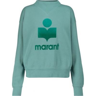 イザベル マラン Isabel Marant, Etoile レディース スウェット・トレーナー トップス moby cotton-blend sweatshirt Light Petrol