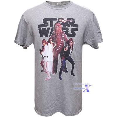 映画  スターウォーズ 米国公式メンズ Tシャツ(グレー)Star Wars スカイウォーカー
