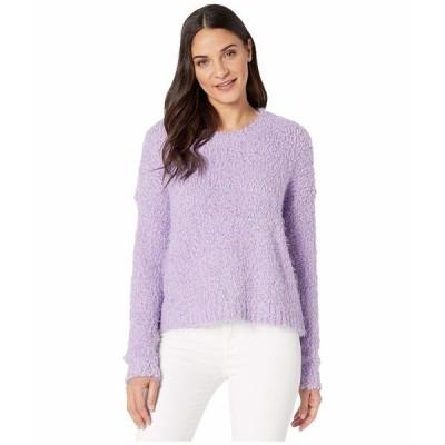 ウミーユアムーム ニット&セーター アウター レディース Cropped Varsity Sweater Lilac Knubby Knit