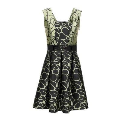 W LES FEMMES by BABYLON ミニワンピース&ドレス ライトイエロー 42 ナイロン 100% ミニワンピース&ドレス