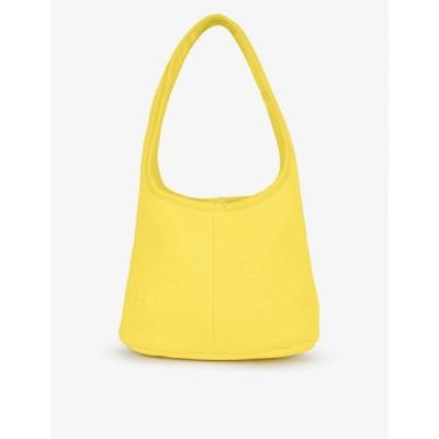 パンゲア PANGAIA レディース ショルダーバッグ バッグ Brand-embossed recycled and organic cotton-blend shoulder bag SAFFRON YELLOW