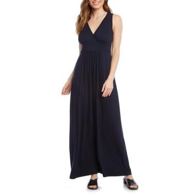 カレンケーン ワンピース トップス レディース Jersey Knit Maxi Dress Navy