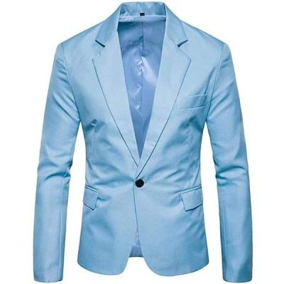 [アスペルシオ] カラフル 長袖 ジャケット メンズ フォーマル 紳士 細身 細い アウター シングル ボタン 1つボタン ジャケ オラオラ系 お兄系