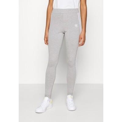 アディダスオリジナルス レディース レギンス ボトムス THREE STRIPES TIGHT - Leggings - Trousers - medium grey heather medium grey