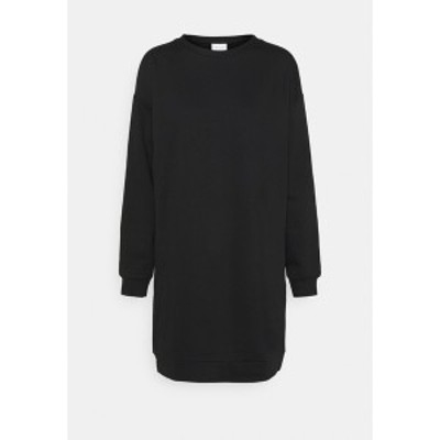 ヴィラ レディース ワンピース トップス VIRUST O NECK DRESS - Day dress - black black