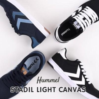 ヒュンメル hummel スニーカー メンズ レディース カジュアル シューズ 靴 ファッション STADIL LIGHT CANVAS HM208263 1009 2001 黒