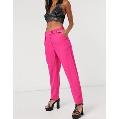 トップショップ レディース カジュアルパンツ ボトムス Topshop slim pants in pink