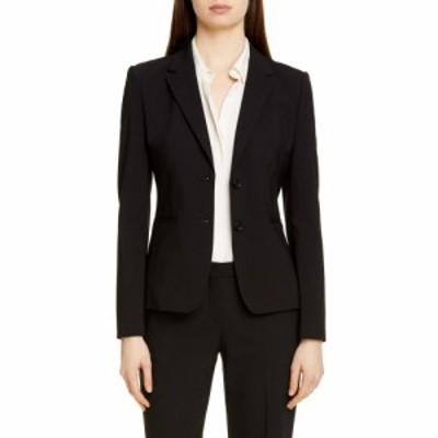 ヒューゴ ボス BOSS レディース ジャケット アウター Julea Stretch Wool Jacket Black