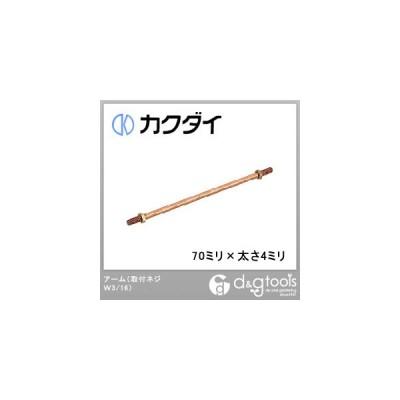 カクダイ(KAKUDAI) アーム 取付ネジW3/16 70ミリ×太さ4ミリ  0612-70×4.5 1