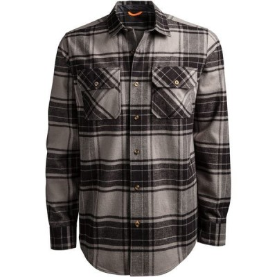 ティンバーランド シャツ トップス メンズ Timberland Woodfort Flannel Shirt Pewter/BlackCheck
