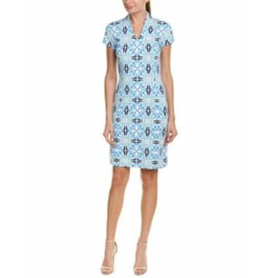 Shift  ファッション ドレス J.Mclaughlin Catalina Cloth Shift Dress L Blue