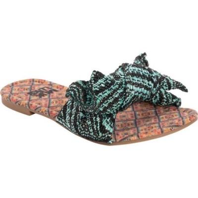 ムクルクス MUK LUKS レディース サンダル・ミュール スライドサンダル シューズ・靴 Trysta Slide Sandal Turquoise Polyester