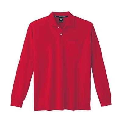 XEBEC ジーベック 長袖ポロシャツ 6035 71 レッド 3L