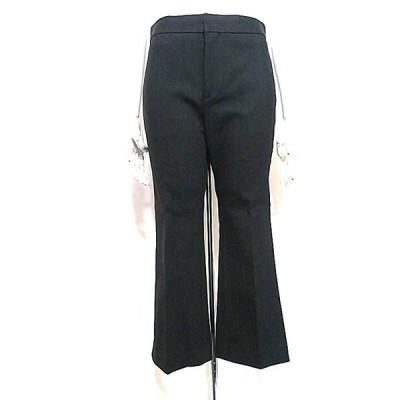 【中古】Drawer ドゥロワー パンツ レディース ブラック 36サイズ 春夏 綿パンツ 9分丈パンツ スリムシルエット