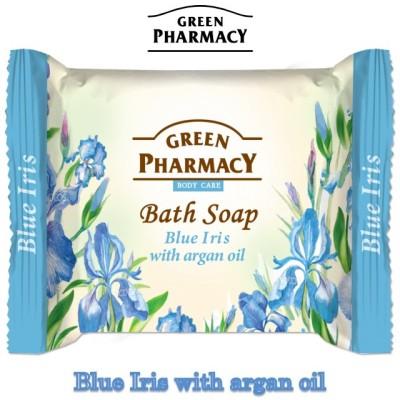 Elfa Pharm Green Pharmacy グリーンファーマシー エルファファーム バスソープ ブルーアイリス&アルガンオイル 100g