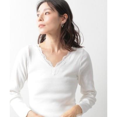 tシャツ Tシャツ 抗菌レースインナー長袖 924816